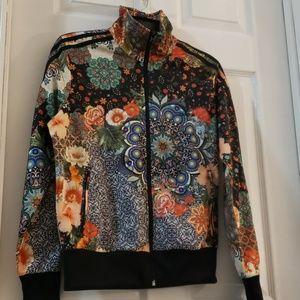 ADIDAS floral track jacket